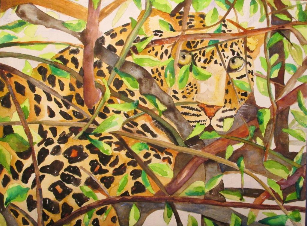 Leopard, Watercolor
