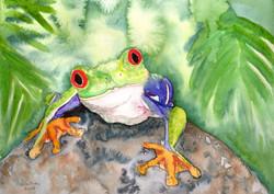 Friendly Frog, Watercolor