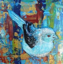 Blue Bird, Mixed Media