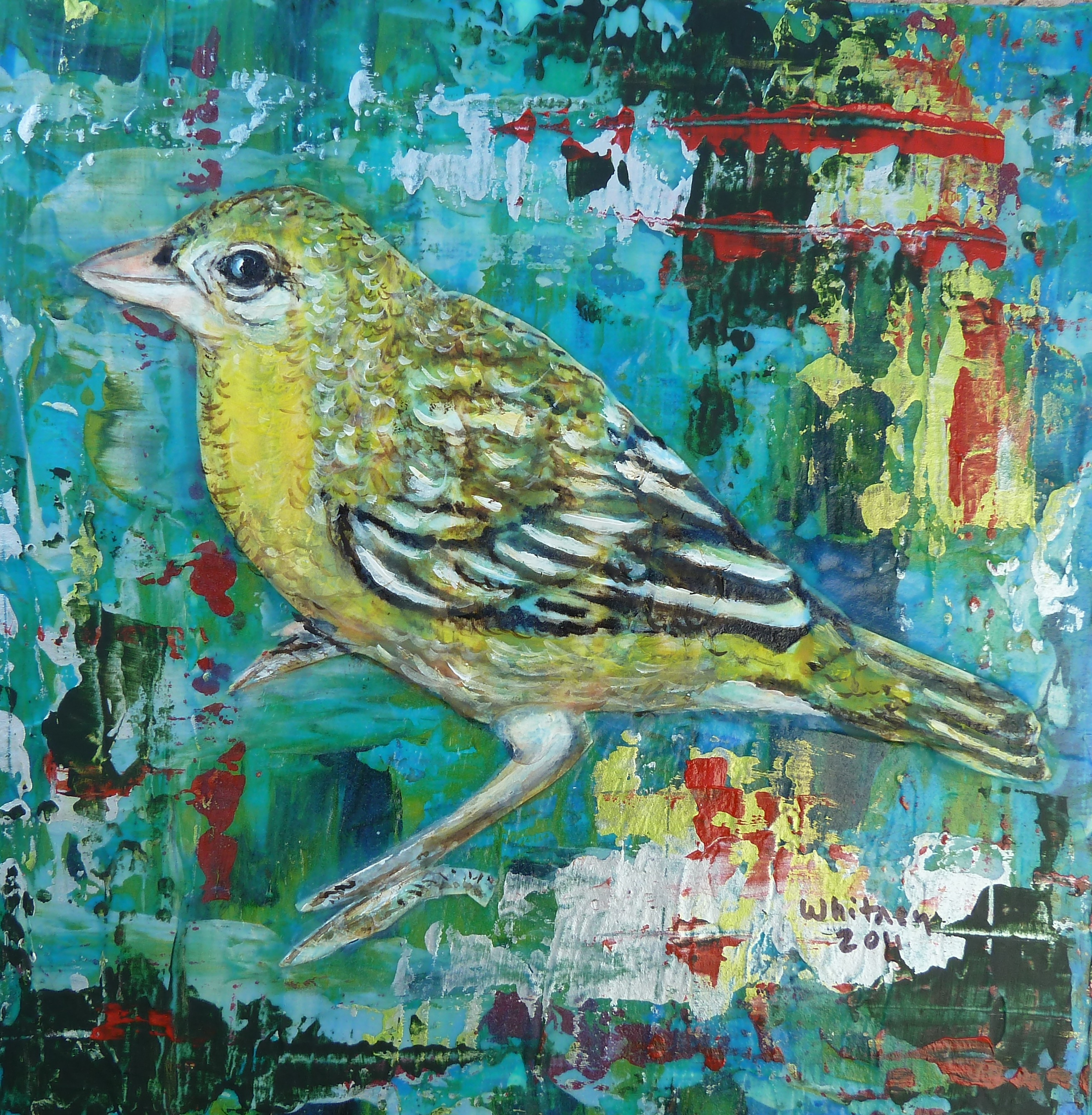 Yellow Bird, Mixed Media
