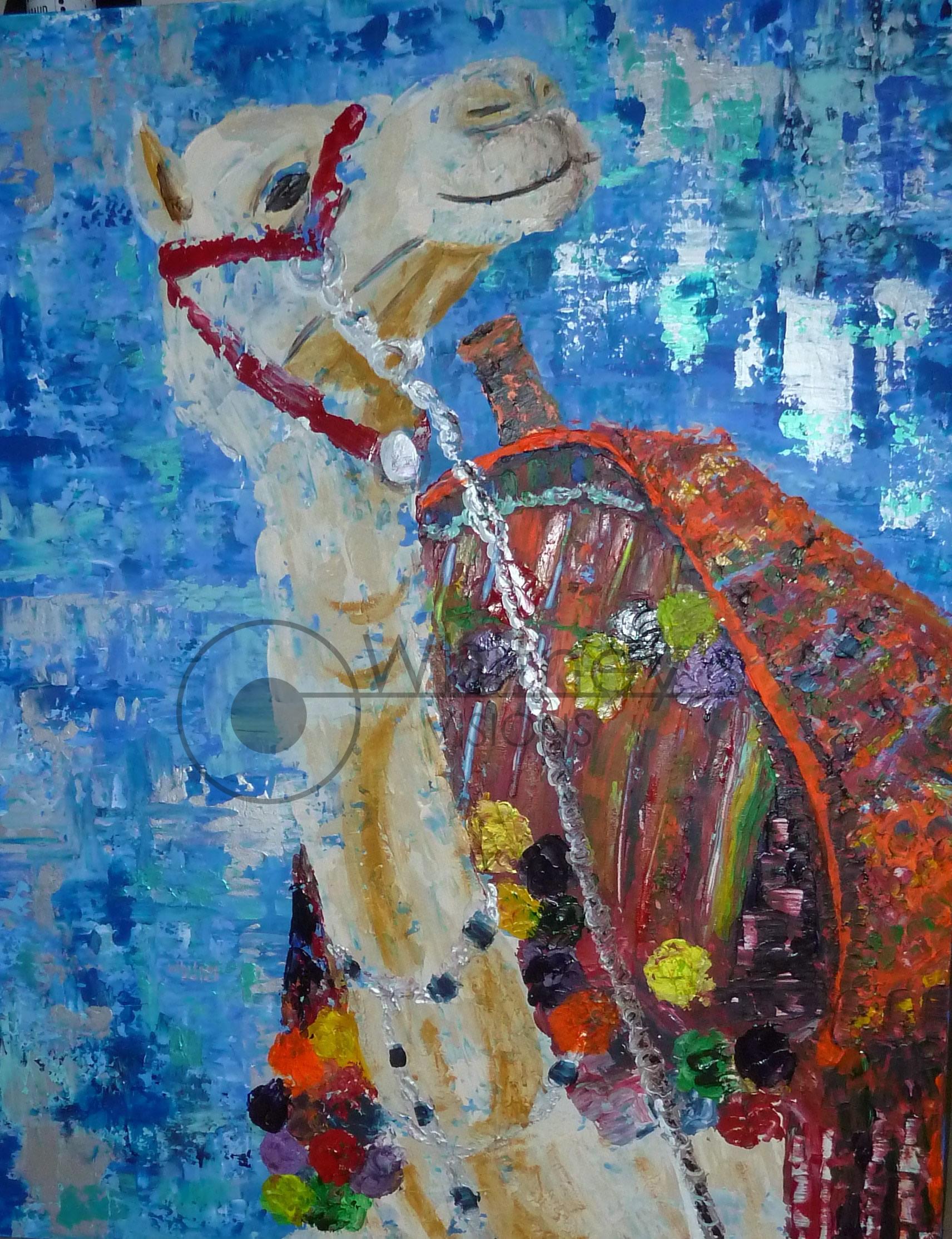 Long Necked Camel, Acrylic
