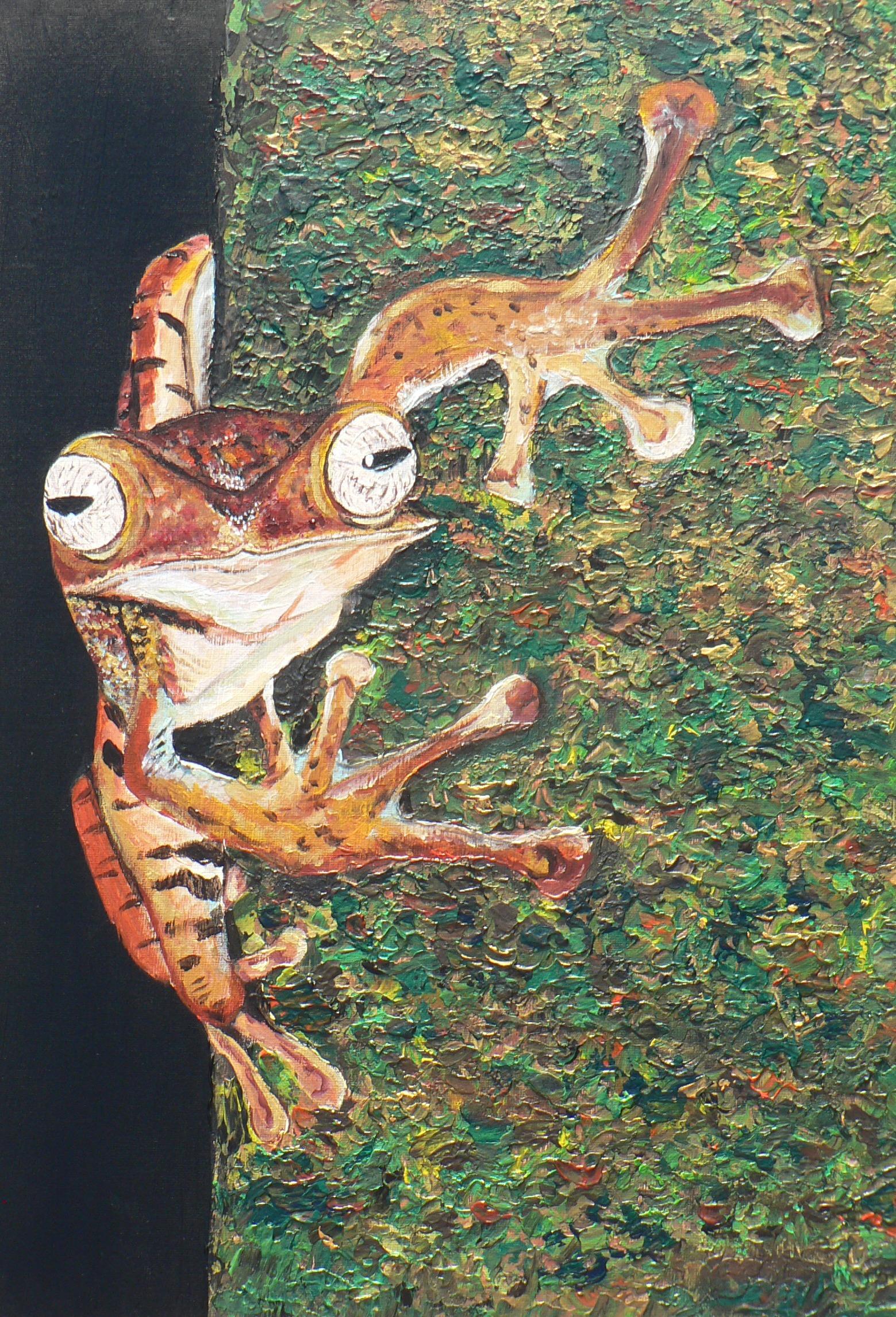 Tree Frog, Acrylic