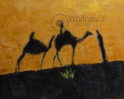 Desert Shadows, Acrylic