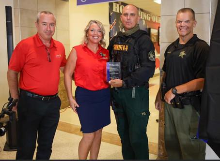 K-9 Deputy Chris Stone was recognized by Rotary Club