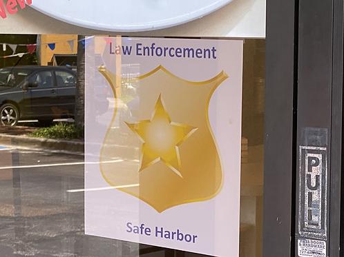 Law Enforcement Safe Harbor Window Decal 5x5