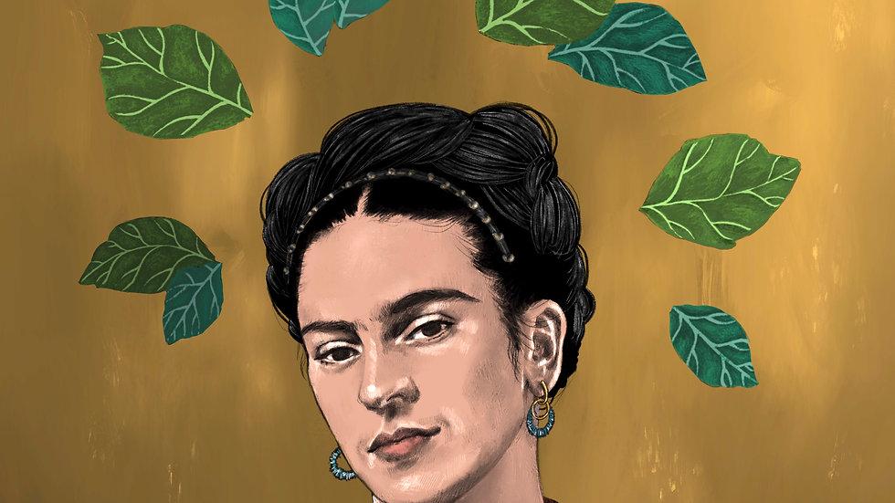 Golden Frida (print)