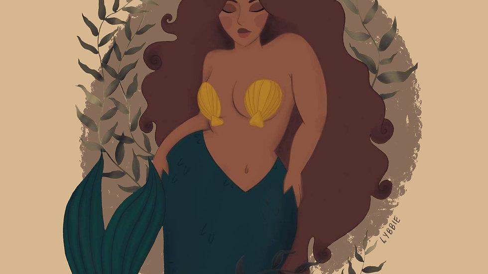 Island Mermaid (print)