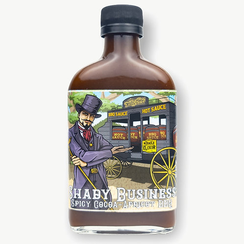 Shady Business Spicy Cocoa-Apricot BBQ Sauce