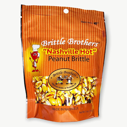 Nashville Hot Peanut Brittle made by the Brittle Brothers