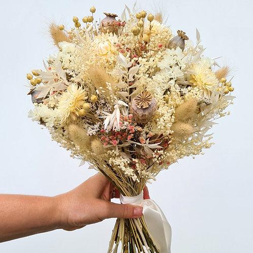 Le bouquet de mariée 'Rose et Beige'