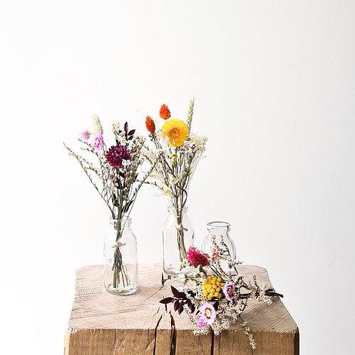Le trio de mini bouquets colorés + vases