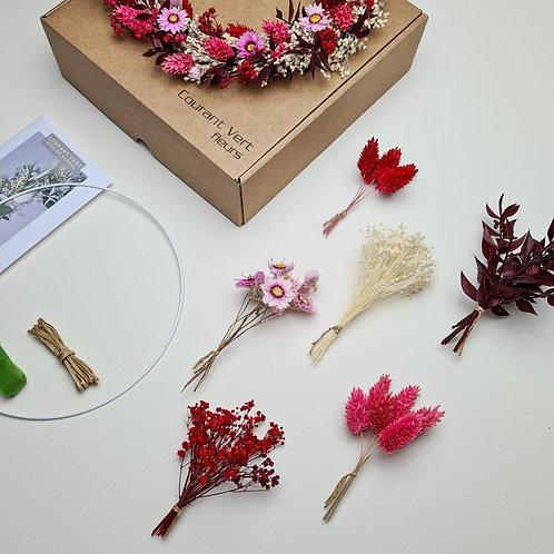 La box diy couronne 'Rouge et Rose'