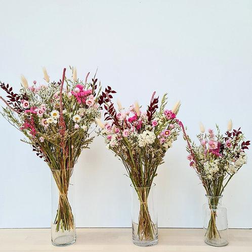 Le bouquet Mauve  S + vase