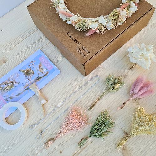 La box  DIY couronne de tête  'Rose'