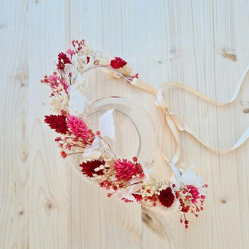 La couronne de tête 'Rose et Rouge'