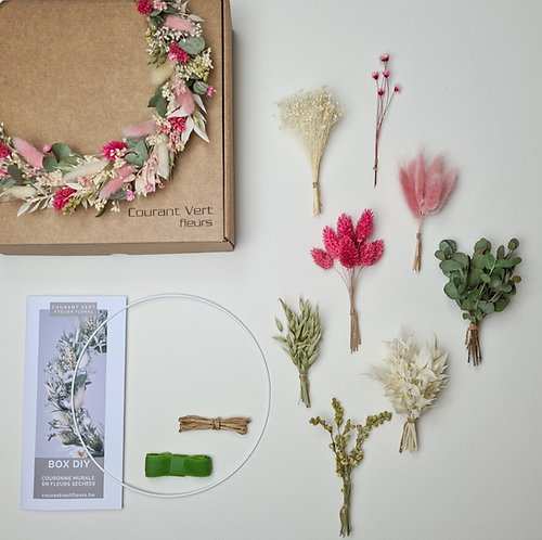 La box diy couronne 'Rose'