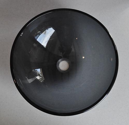 Black Glass Floating Sink