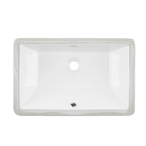 Large Rectangle Porcelain Undermount