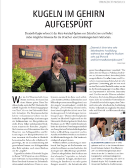 Researcher Profile Article in the Newsletter of the University of Innsbruck