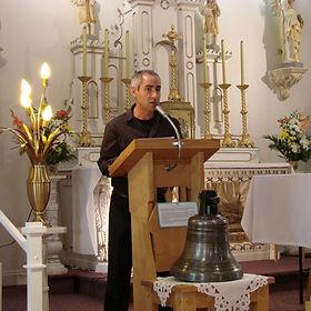 Conférence de José Doré, Chapelle des soeurs du Bon-Pasteur, Notre-Dame-des-Laurentides, © 2011 Christiane Lafrance