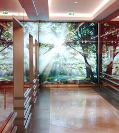 Digital bedrucktes Glas