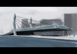 Concepto infraestructura portuaria