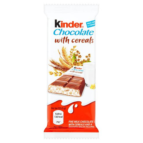 kinder chocolate with cerals 23 g