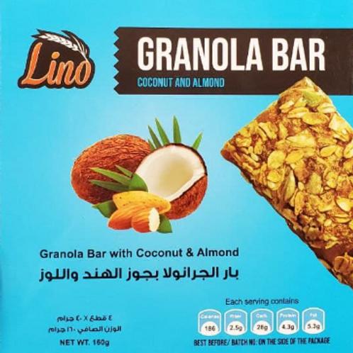 Lino GRANOLA BAR COCONUT AND ALMOND  160G