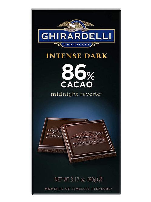 GHIRARDELLI INTENSE DARK 86% CACAO  90g