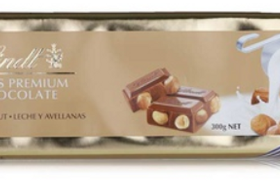 Lindt SWISS PREMIUM CHOCOLATE MILK HAZELNUT LECHE AVELLANAS
