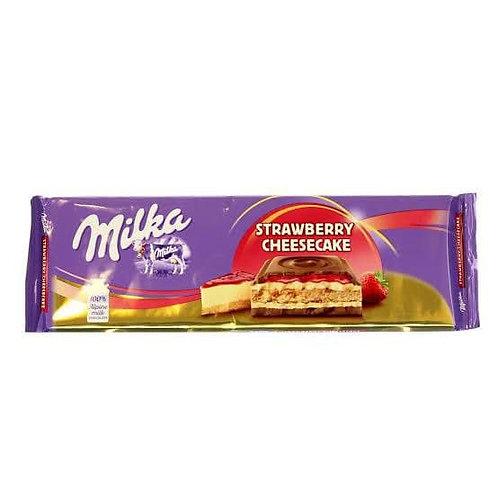 milka strawberry  chesecake