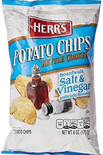 HERR'S POTATO CHIPS Salt & Vinegar 170g