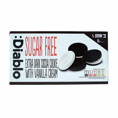 Diablo SUGAR FREE EXTRA DARK COCOA COOKIE WITH VANILLA CREAM 176 g