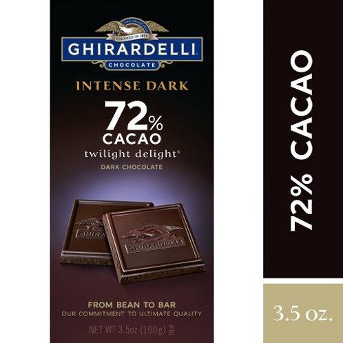 GHIRARDELLI INTENSE DARK 72% CACAO  100 g