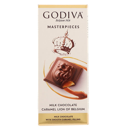 godiva masterpieces MILK CHOCOLATE CARAMEL LION  86 g