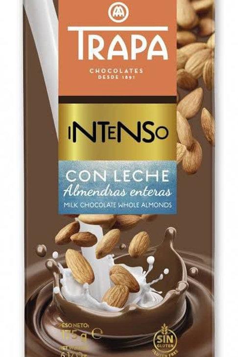 TRAPA INTENSO  MILK CHOCOLATE WHOLE  ALMONDS    175G