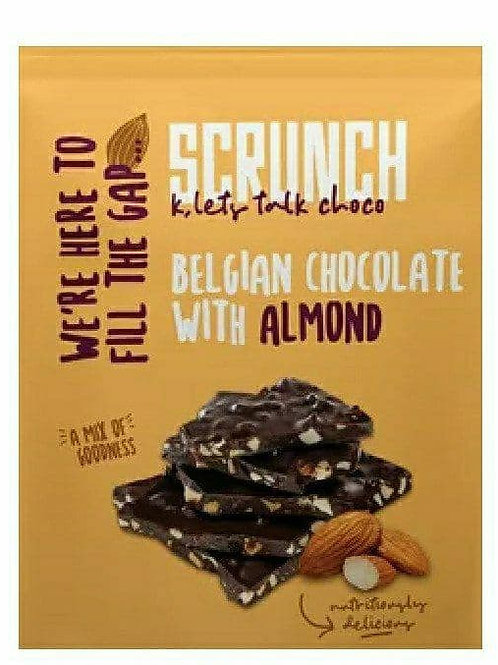 Scrunch chocolate with almond