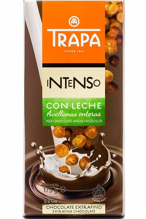 TRAPA INTENSO  MILK CHOCOLATE WHOLE HAZELNUT  175G