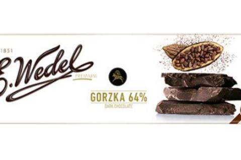 E.Wedel GORZKA 64% DARK CHOCOLATE 220 G