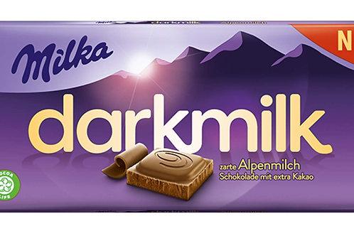 Milka dark milk zarte (Alpenmich schocolade mit extra kakao)