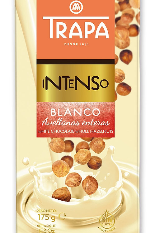 TRAPA INTENSO  WHITE CHOCOLATE WHOLE HAZELNUTS    175G