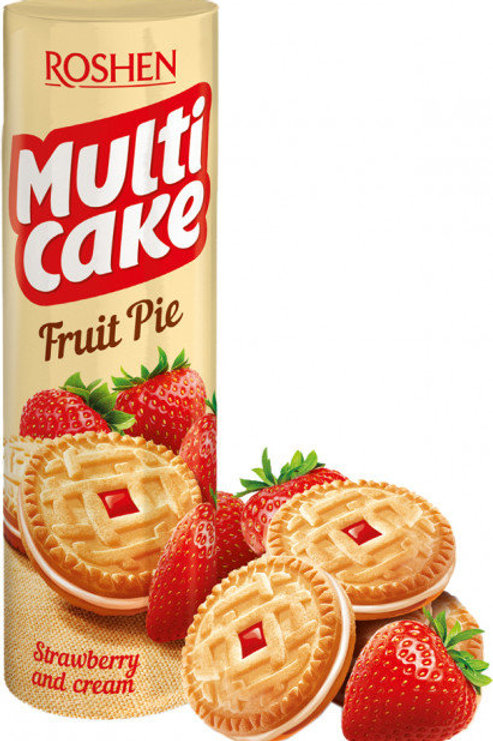 roshen multi cake fruit Strawberry and cream