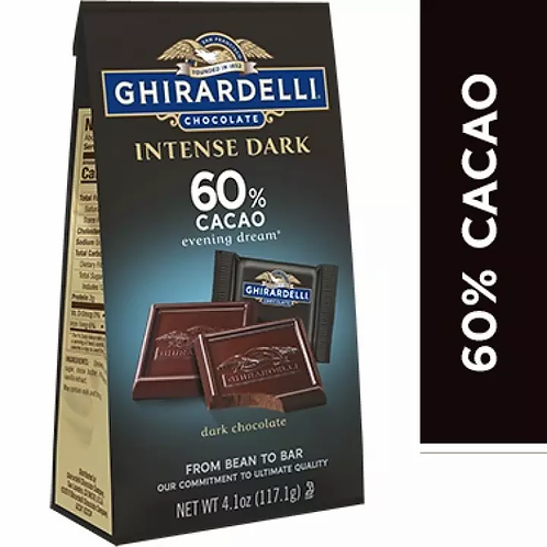 GHIRARDELLI INTENSE DARK 60% CACAO 117 G