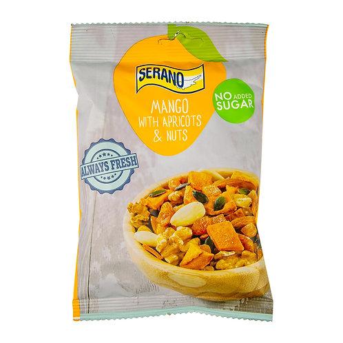 SERANO NO ADDED SUGAR MANGO WITH APRICOTS& NUTS 150 g