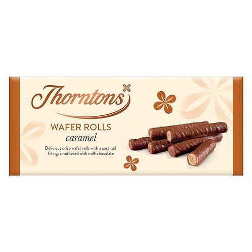 Thorntons WAFER ROLLS Caramel 110g
