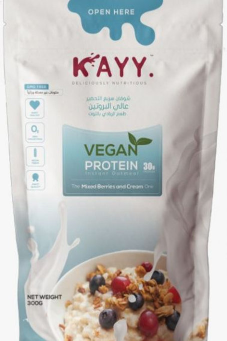 KAYY VEGAN PROTEIN  The Mixed Berries and Cream One  300 G