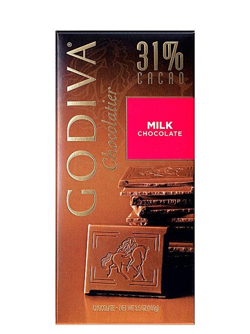 GODIVA 31% CACAO MILK CHOCOLATE 100g