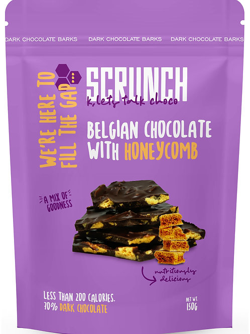 SSCRUNCH BELGIAN CHOCOLATE WITH HONEYCOMB 150 G