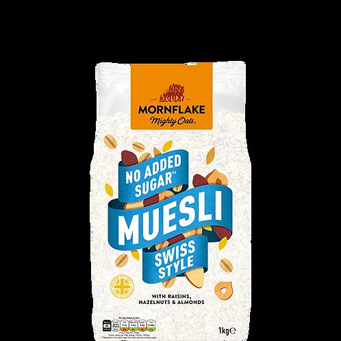 MORNFLAKE NO ADD SUGAR MUESLI SWISS STYLE 1000 G