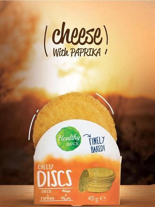 CHEESY  DISCS  CHEESE & PAPRIKA  45G